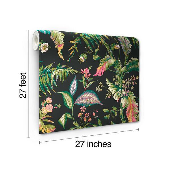 Ashford House Tropics Black and Green Fiji Garden Wallpaper, image 5