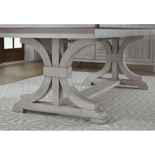 Belhaven Weathered Plank Trestle Table, image 4