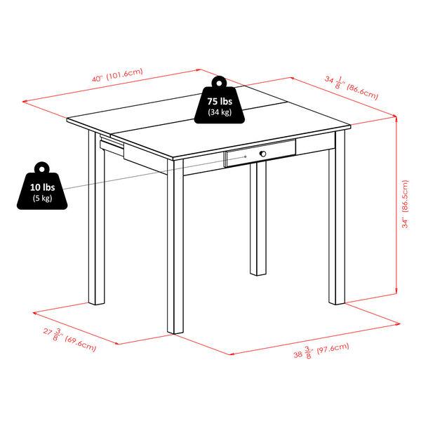 Perrone Walnut Three-Piece Dining Table Set, image 4