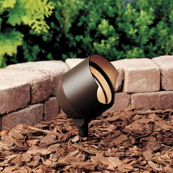 Textured Architectural Bronze 4.5-Inch One-Light Landscape Accent Fixture, image 1