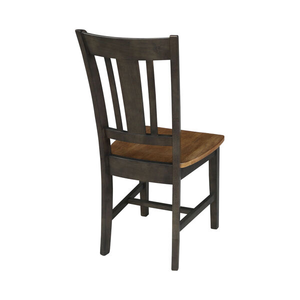 San Remo Hickory and Washed Coal Splatback Chair, Set of 2, image 2