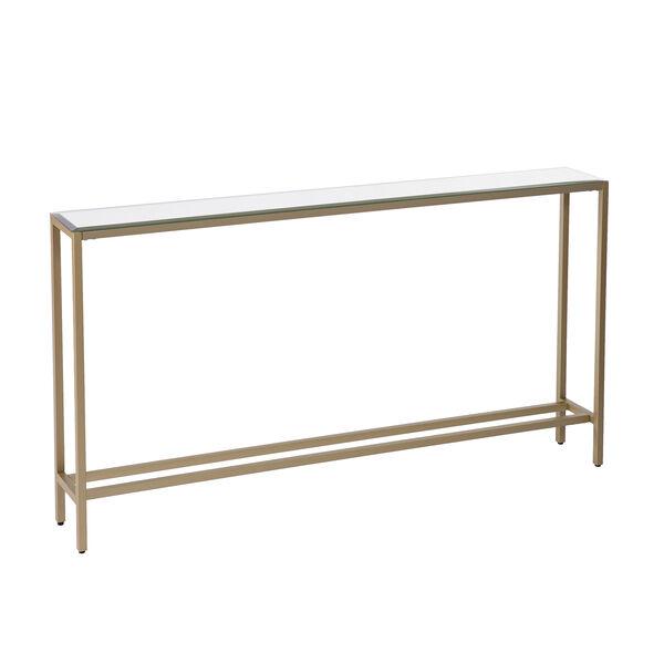Darrin Metallic Gold Console Table, image 5