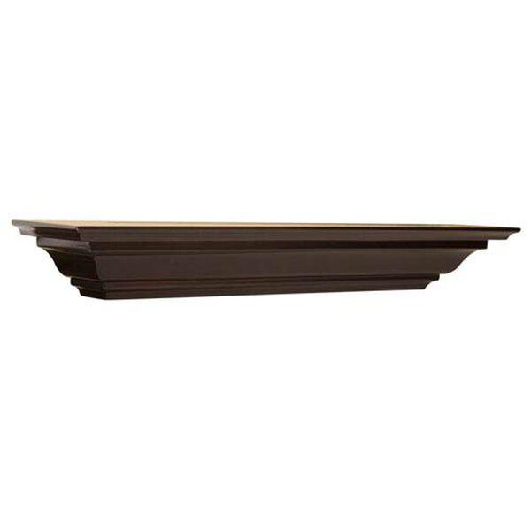 Espresso Crown Molding Shelf, 5 x 60 x 4-Inches, image 1
