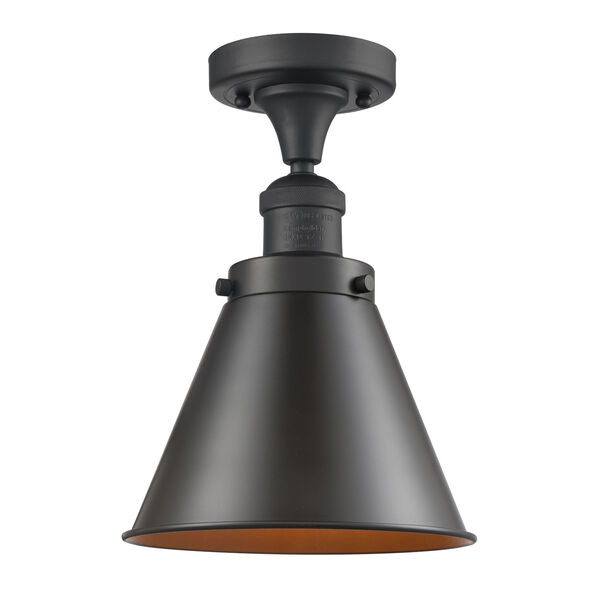 Franklin Restoration Oil Rubbed Bronze 10-Inch LED Semi-Flush Mount with Appalachian Oil Rubbed Bronze Metal Shade, image 1
