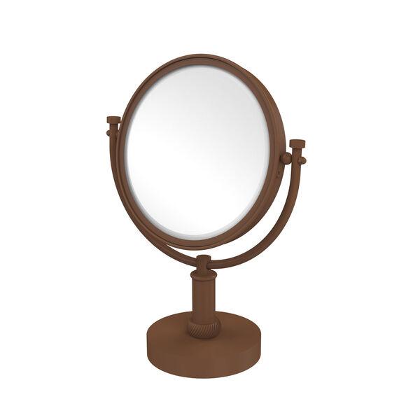 8 Inch Vanity Top Make-Up Mirror 2X Magnification, Antique Bronze, image 1
