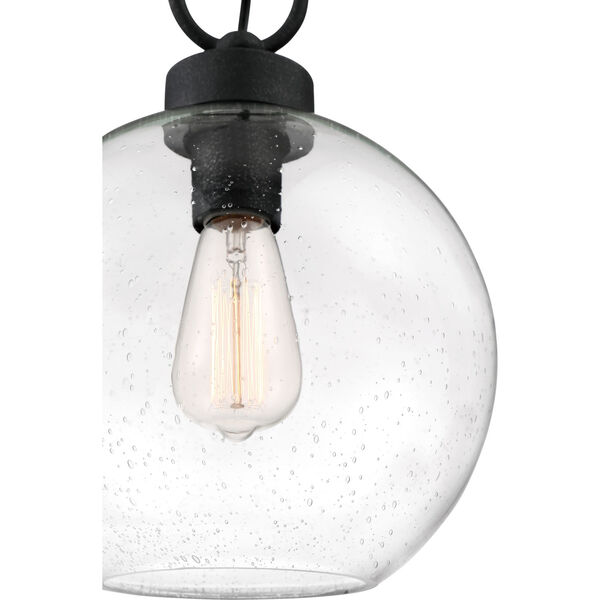 Barre Grey Ash 10-Inch One-Light Outdoor Hanging Lantern with Clear Seedy Glass, image 4