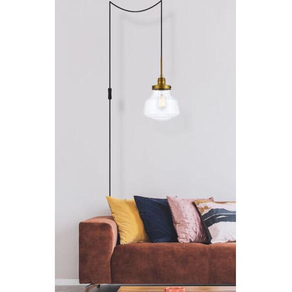 Lye Brass One-Light Plug-In Pendant, image 6