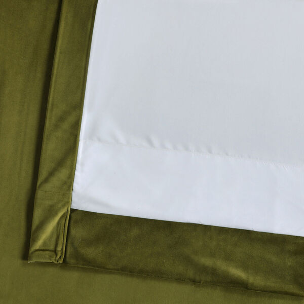 Green 84 x 50 In. Plush Velvet Curtain Single Panel, image 6