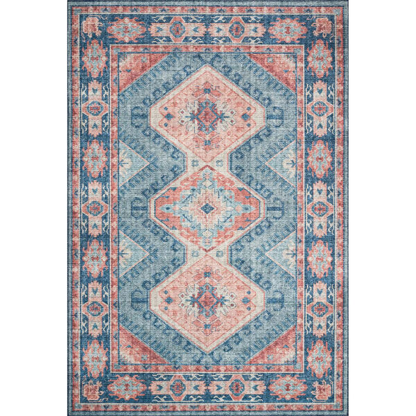 Skye Turquoise And Terracotta Rectangular: 3 Ft. 6 In. X 5 Ft. 6 In. Rug, image 1