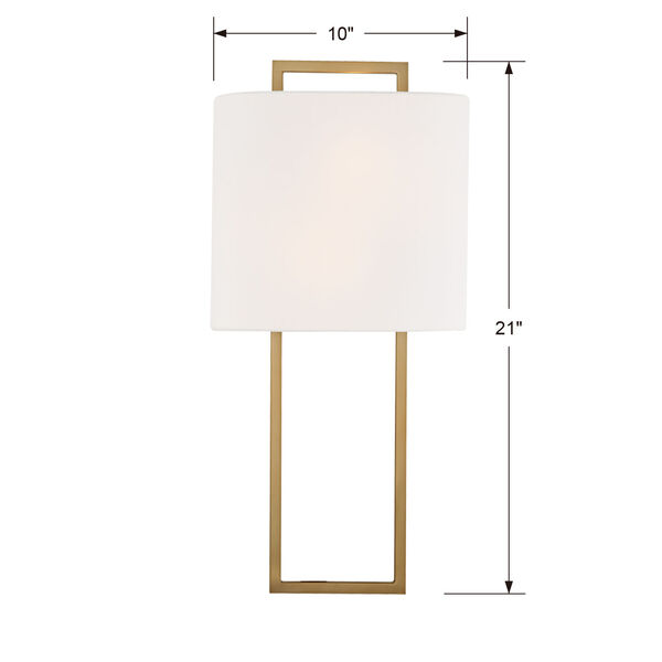 Fremont Vibrant Gold Two-Light Wall Sconce, image 2