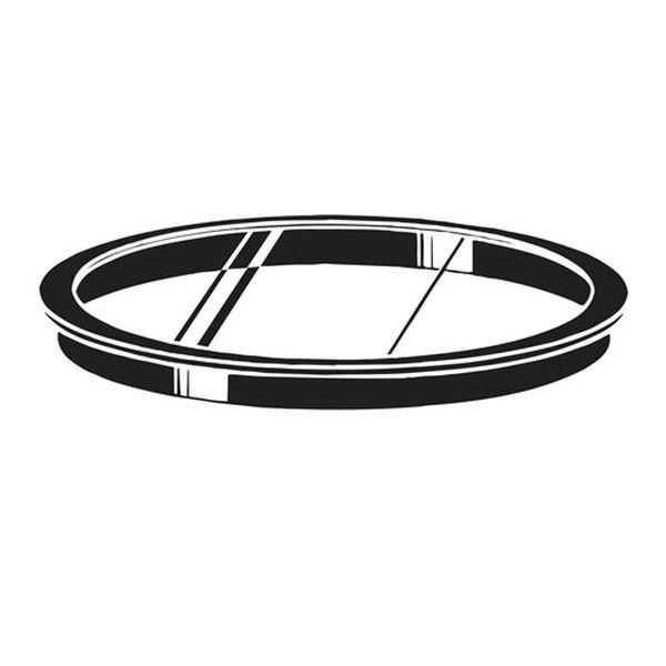 Large Glass Lens - Black Frame, image 1