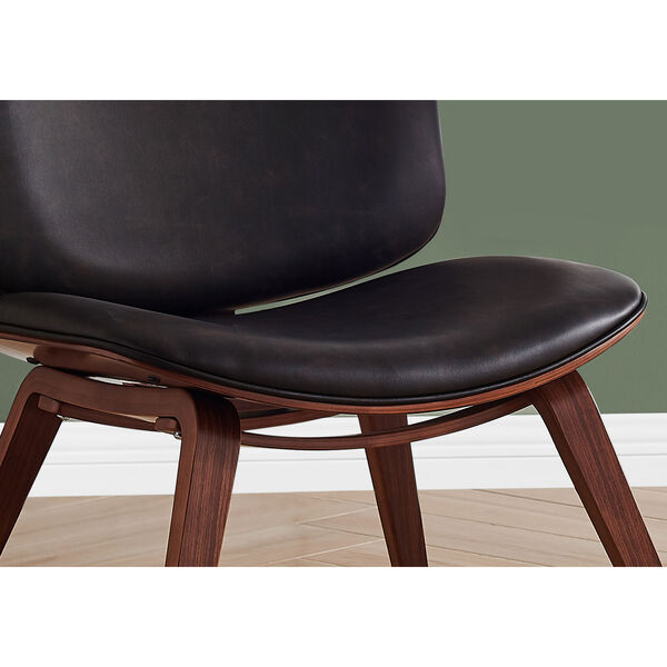 Black and Dark Brown Armless Chair, image 3