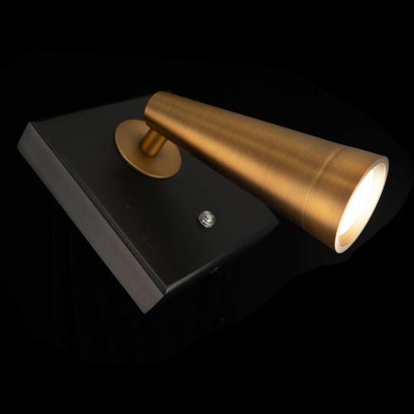 Arne Black and Aged Brass LED ADA Headboard Light, image 4