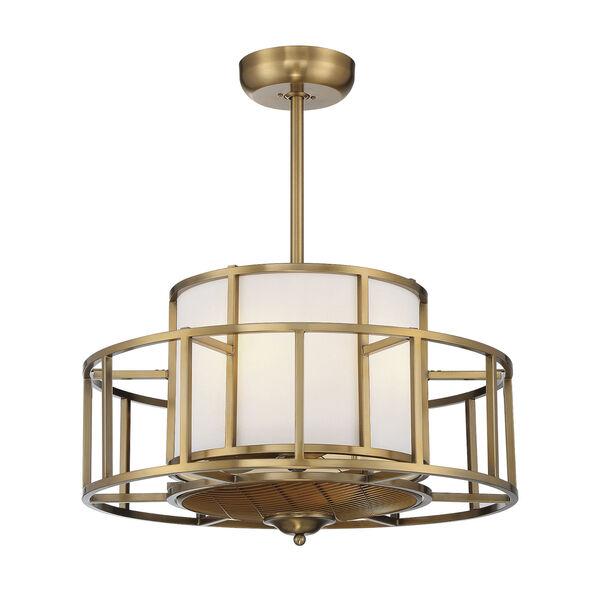 Oslo Warm Brass Four-Light LED Fandelier, image 1