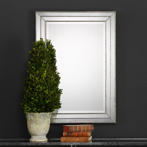 Whittier Rectangular Silver Mirror, image 1