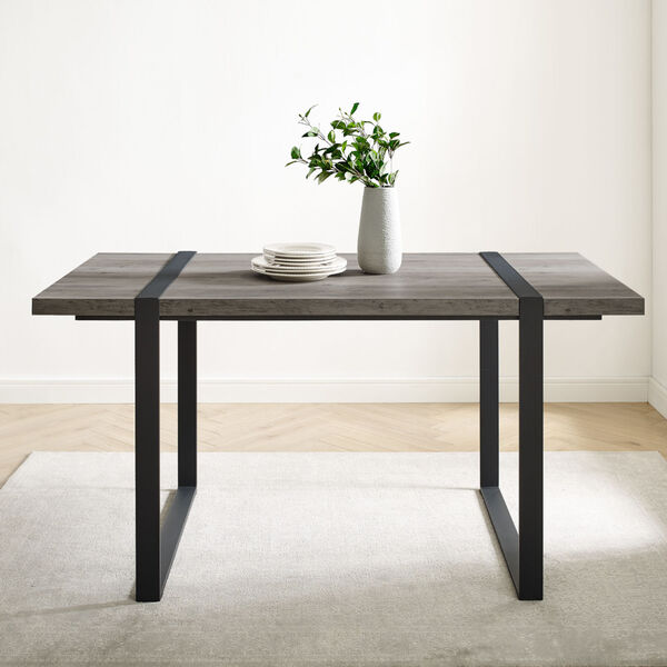 Urban Blend Gray and Black Dining Table, image 1