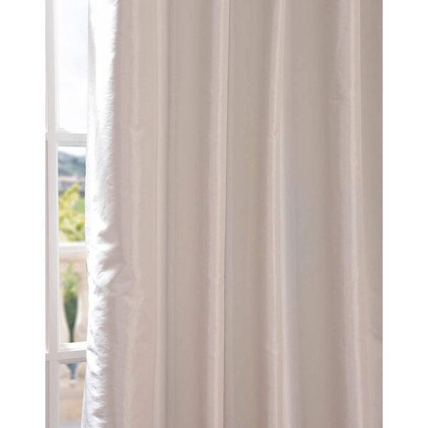 Eggshell 96 x 50-Inch Blackout Faux Silk Taffeta Curtain Single Panel, image 5
