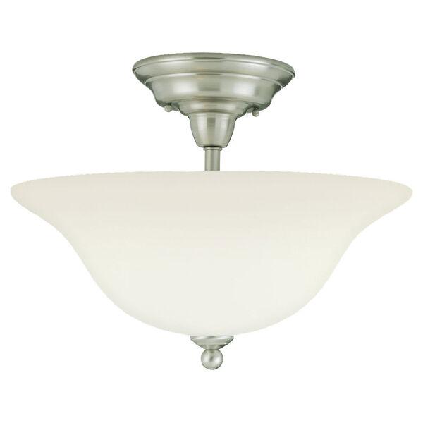 Sussex Brushed Nickel Semi-Flush Ceiling Light , image 1