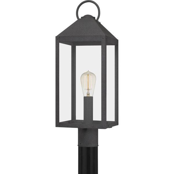 Thorpe Mottled Black One-Light Outdoor Post Mount, image 1