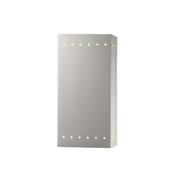 Ambiance Bisque Seven-Inch Closed Top and Bottom GU24 LED Rectangle Outdoor Wall Sconce, image 1