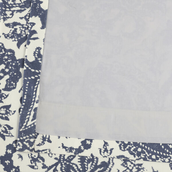 Edina Blue 120 in. x 50 in. Printed Cotton Curtain Panel, image 6