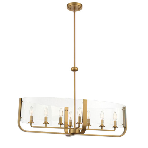 Campisi Brass Eight-Light Oval Chandelier, image 1