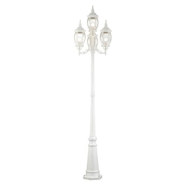 Frontenac Textured White 24-Inch Four-Light Outdoor Post Lantern, image 3