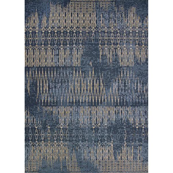 Dolce Blue Nile Indigo Rectangular: 2 Ft. 3 In. x 7 Ft. 10 In. Indoor/Outdoor Runner, image 1