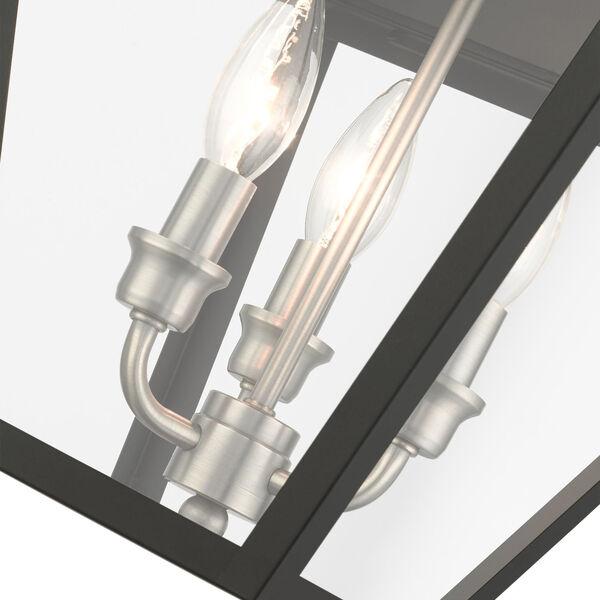 Mansfield Black Three-Light Outdoor Pendant Lantern, image 6