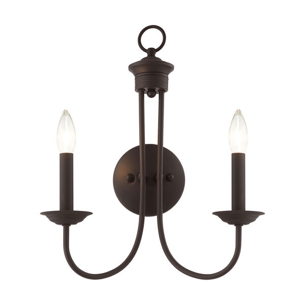 Estate Bronze Two-Light Wall Sconce, image 3