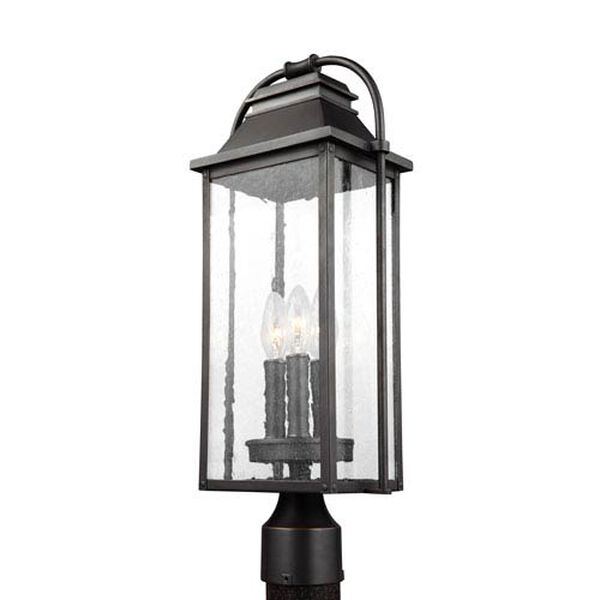 Buchanan Bronze Three-Light Outdoor Post Lantern, image 1