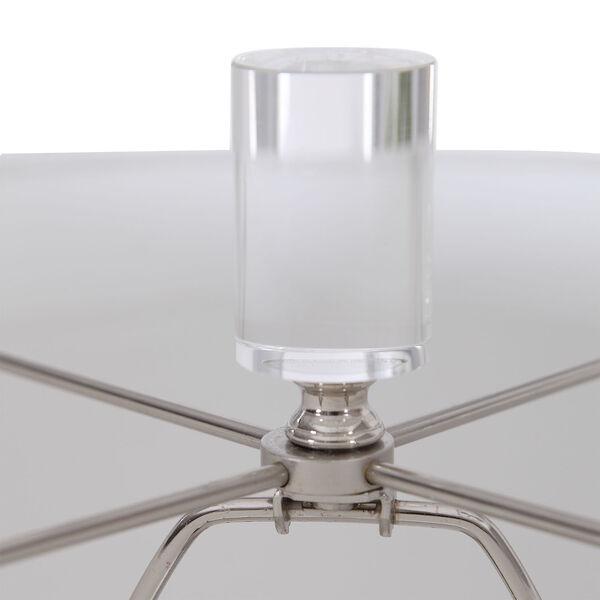 Zesiro Beige and Polished Nickel Table Lamp, image 3