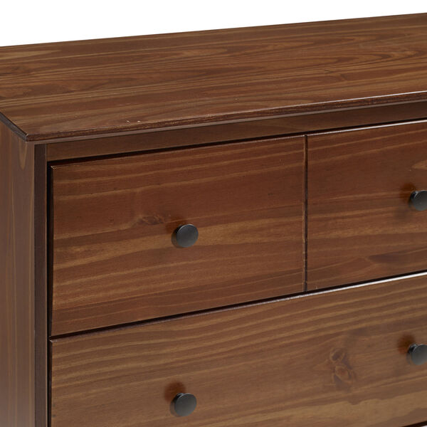 Walnut Six Drawer Dresser, image 4