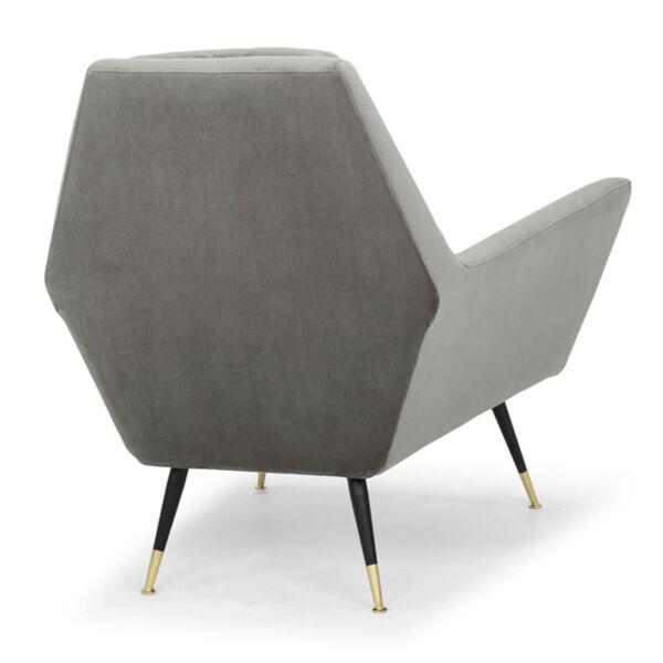Vanessa Smoke Gray and Black Occasional Chair, image 5