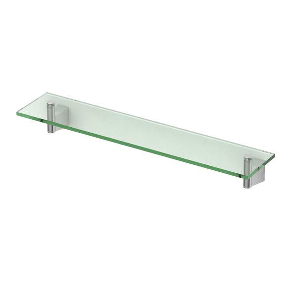 Bleu Chrome 20-Inch Glass Shelf, image 1