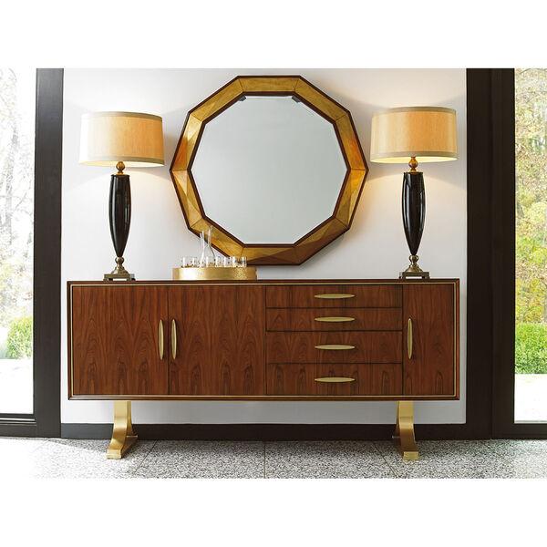 Take Five Brown Savoy Round Mirror, image 3