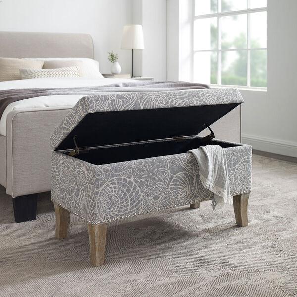 Bentley Rustic Gray Upholstered Storage Bench, image 2