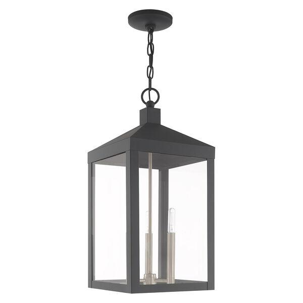 Nyack Scandinavian Gray 11-Inch Three-Light Pendant Lantern, image 2
