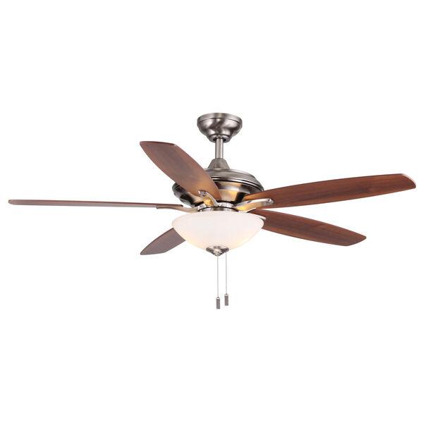 Modelo Nickel 52-Inch Two-Light LED Ceiling Fan, image 1