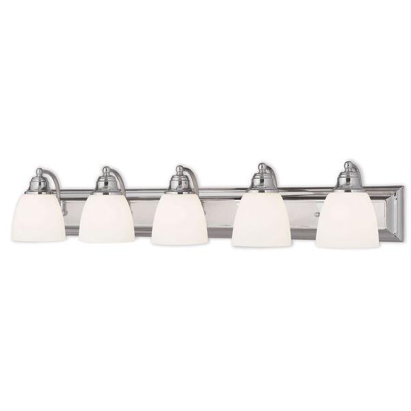 Springfield Chrome 36-Inch Five-Light Bath Light, image 1