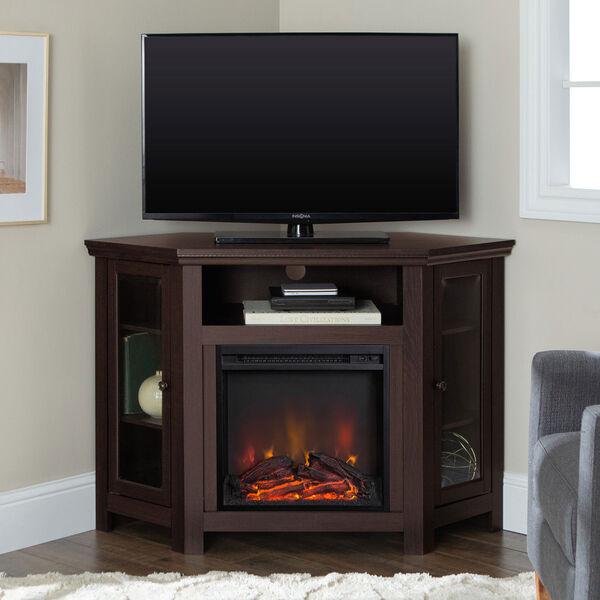 48-inch Corner Fireplace TV Stand - Espresso, image 2