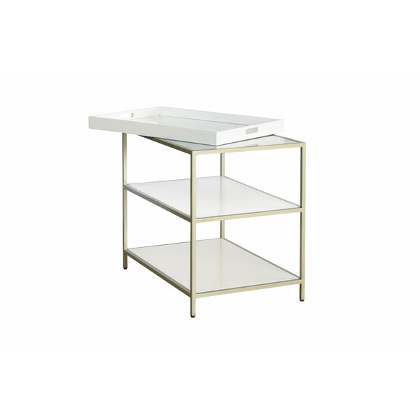 Delaney White End Table with Removable Tray, image 2