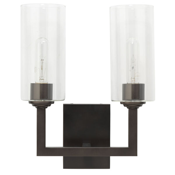 Linear Oil Rubbed Bronze Two-Light Wall Sconce, image 1