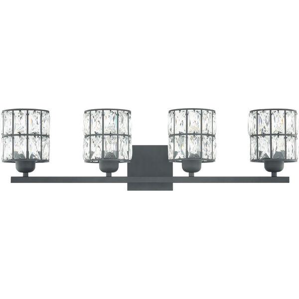 Gibson Matte Black Four-Light Bath Vanity, image 3
