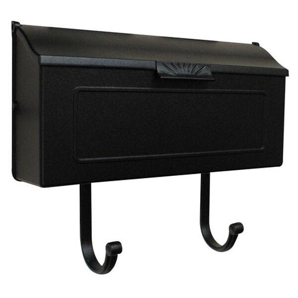 Horizon Black Horizontal Mailbox, image 1