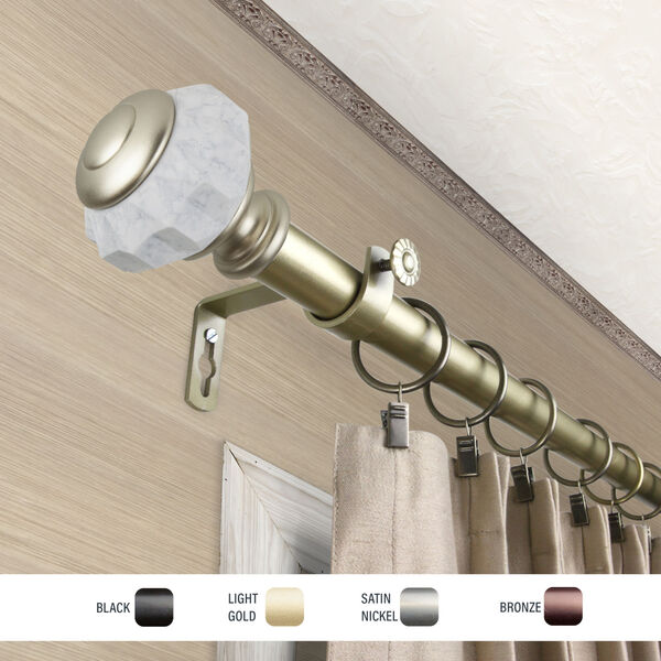 Linden Gold 160-240 Inch Curtain Rod, image 3