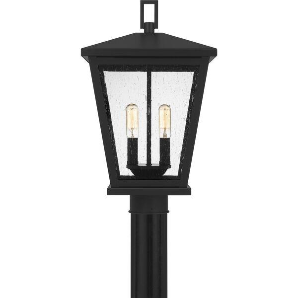 Joffrey Matte Black Two-Light Outdoor Post Mount, image 3