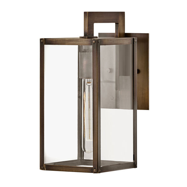 Max Burnished Bronze 13-Inch One-Light Outdoor Wall Mount, image 1