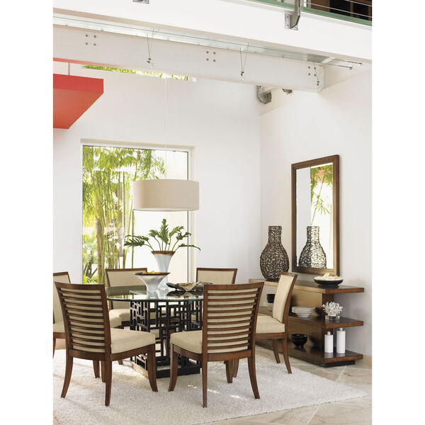 Ocean Club Brown South Sea Dining Table with 60 In. Glass Top, image 2