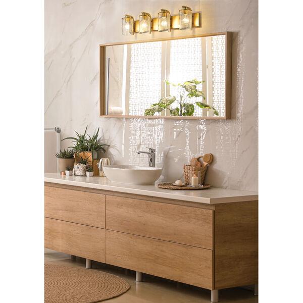 Beckett Olde Brass Four-Light Bath Vanity, image 2